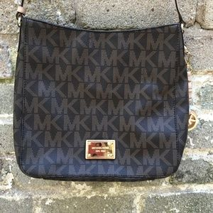 Michael Kors Large Brown Logo Crossbag